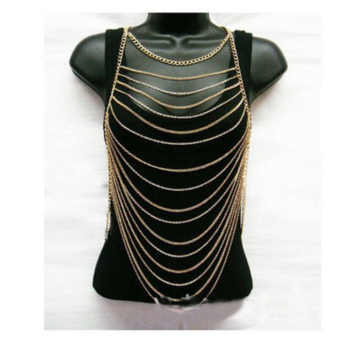 156-75cc86616dd1913dff47b4c11f6774c4 Sexy Gold Plated Summer Body Chain Necklace Jewelry For Bikini