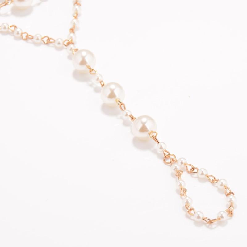 167-0b28d1280d8d7e74d6f0c2d37e8adb40 Sophisticated Bridal Pearl Chain Anklet Bracelet
