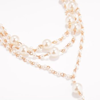 Sophisticated Bridal Pearl Chain Anklet Bracelet Jewelry