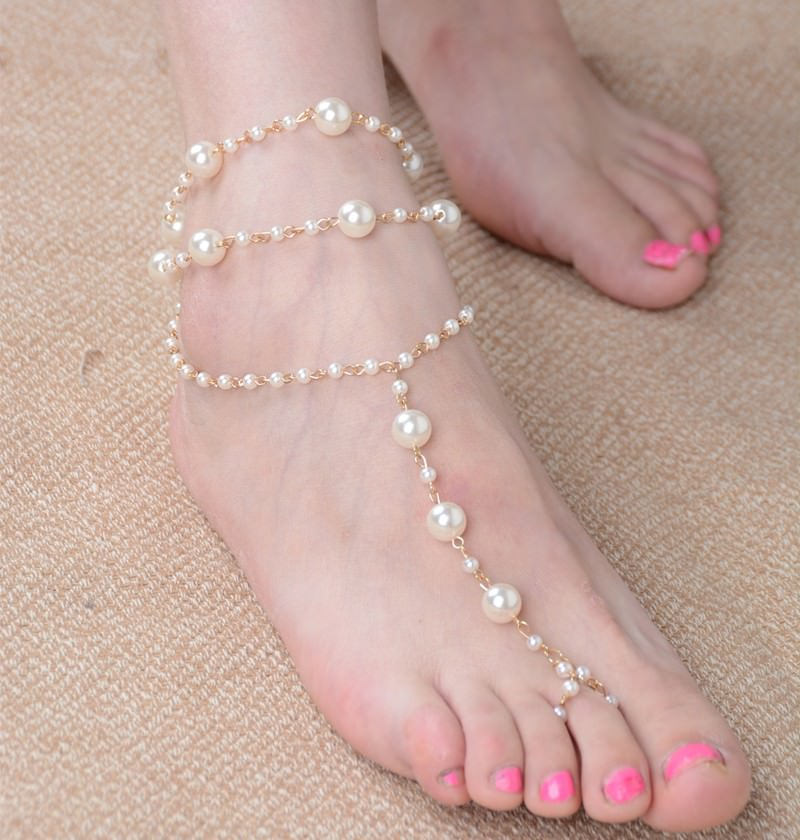 167-a2c06292919ec3ac4d9644ec4ae0722e Sophisticated Bridal Pearl Chain Anklet Bracelet Jewelry