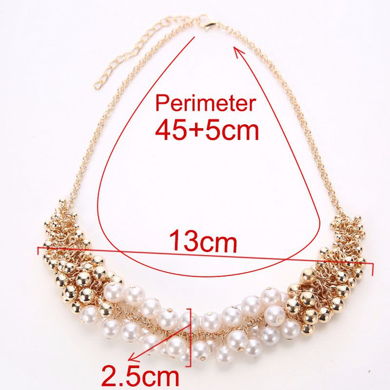 179-3aef6beb8777ac8b291f82140574b410 Extravagant Rounded Pearl And Gold Plated Beads Necklace Jewelry