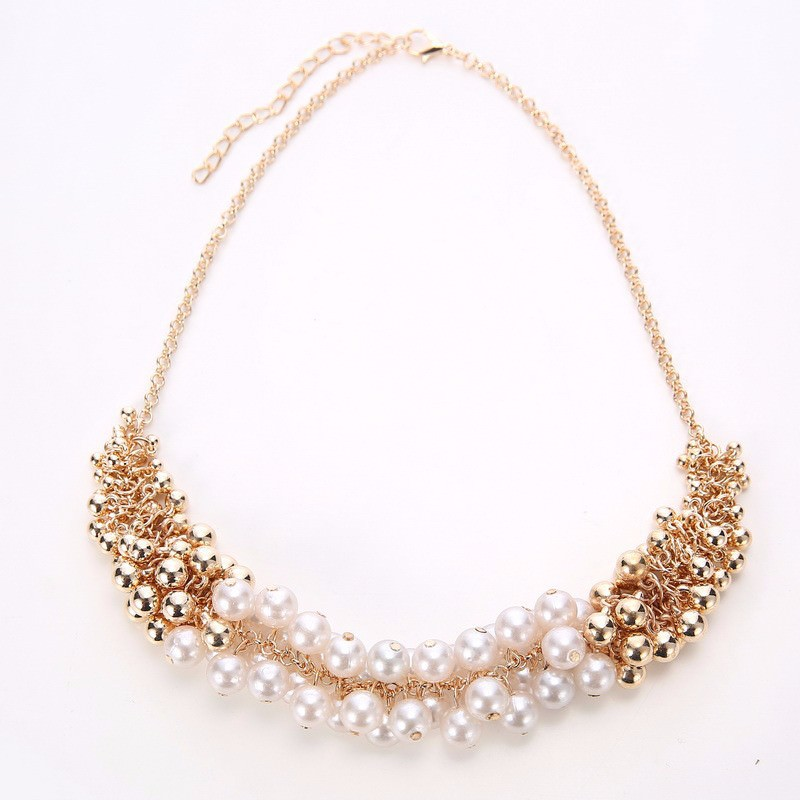 179-7cd446d001545908d4e8dad282a3509f Extravagant Rounded Pearl And Gold Plated Beads Necklace Jewelry