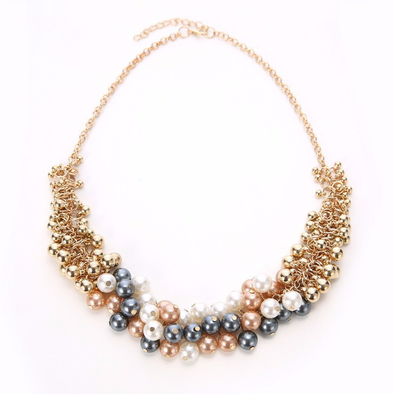 179-e4aea3e4167bcb9deeea123833ae438f Extravagant Rounded Pearl And Gold Plated Beads Necklace Jewelry