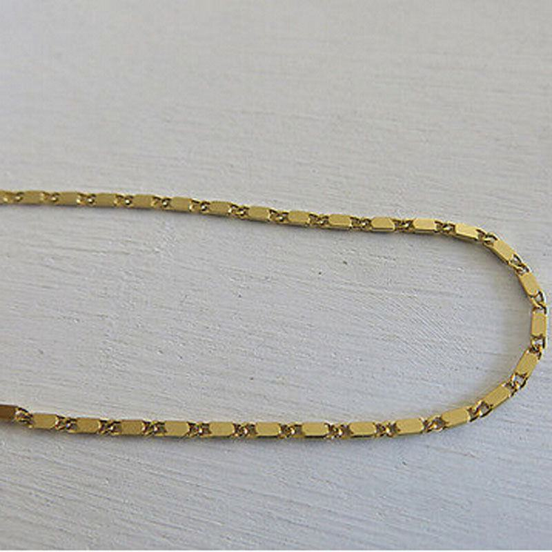 97-3c542896ced2e86ca11638b999f4b1b0 Simple Gold Or Silver Plated Box Chain Anklet Jewelry