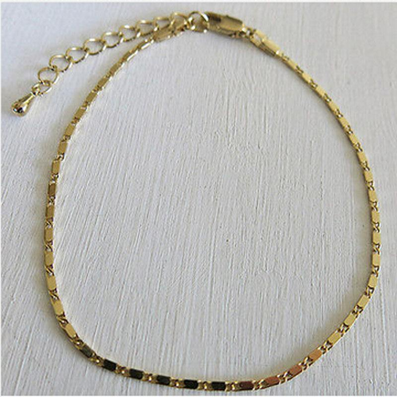 97-c6e7851838e5b4da25c7214a397ee96c Simple Gold Or Silver Plated Box Chain Anklet Jewelry
