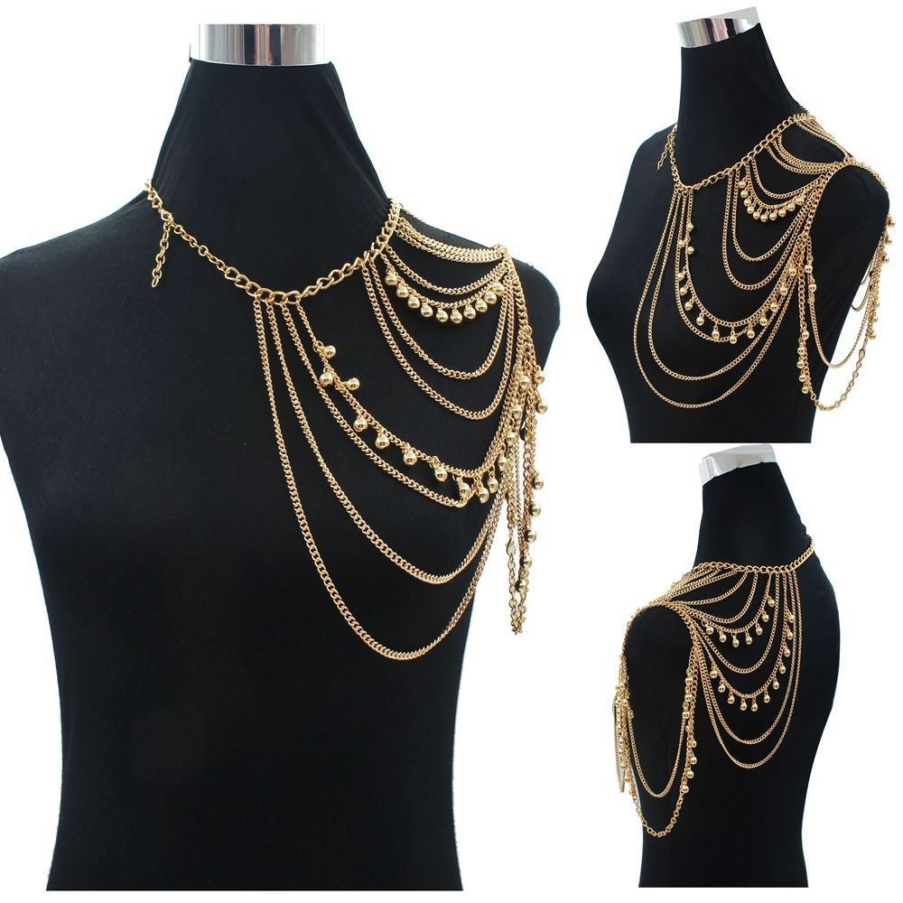 11459-81a31371c439da07b749fe4380b4aca5 One Shoulder Multiple Layered Body Chain Necklace