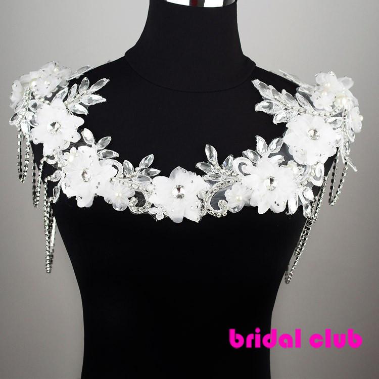 11481-6b2883f27c67440fdc8543bd8c7e60bd Luxury Flower And Rhinestone Shoulder Chain Necklace