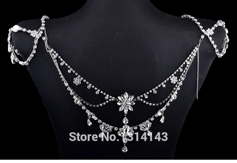 11482-f4e979344c5a79e5808a2c5cd9d70c4d Vintage Wedding Chain Necklace With Front And Back Accent