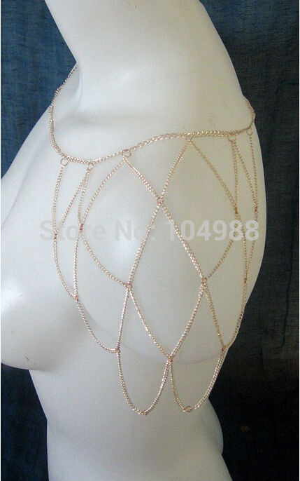 11487-5f917419252acaaa8ab9d89ac725feee Gold Plated One Shoulder Chain Net Sleeve Jewelry