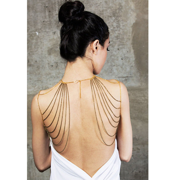 11489-89ca60df5b57663f740d12eb9dd8c065 Sexy Lady Golden Shoulder Chain Necklace For Women