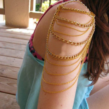 Sexy Sunshine Shoulder Curved Chain Body Jewelry