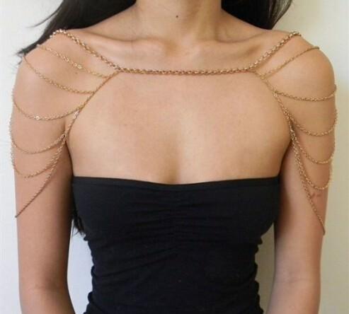 11497-a7fad3e595dd37138f618ca6db37bcb7 Gold Plated Body Chain Shoulder Accessories Multilayer Tessel Necklace Body Chain Women harness Body Jewelry