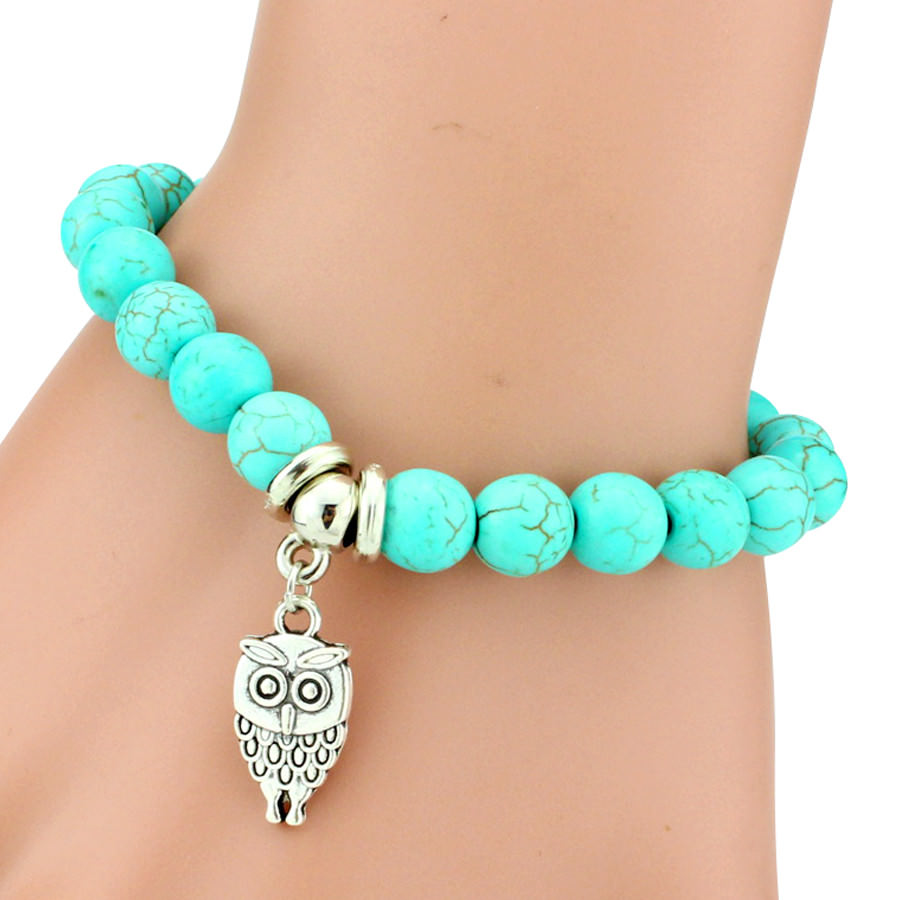11508-2933456a0aa05935f185027f2e7faca9 Vintage Beaded Turquoise Charm Bracelets For Women
