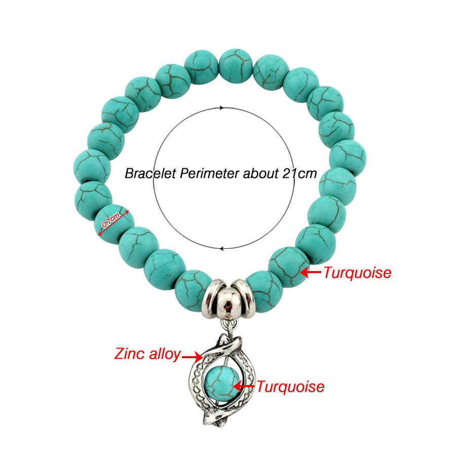 11508-32675271c71eb0a39094ccabaef21c86 Vintage Beaded Turquoise Charm Bracelets For Women