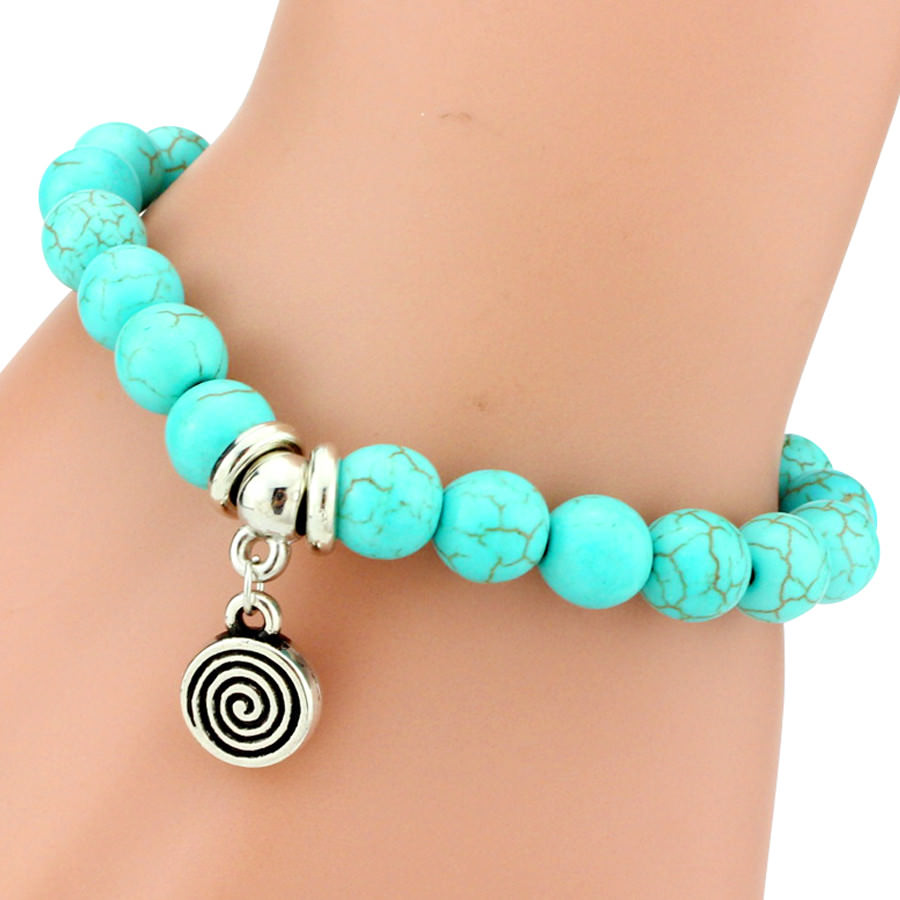 11508-35c0562c2f06a773bb0140dfbf8ba9e2 Vintage Beaded Turquoise Charm Bracelets For Women