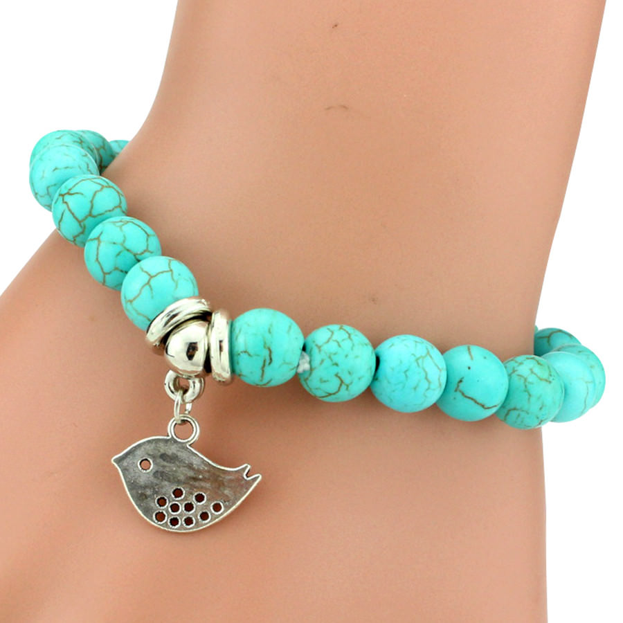 11508-49ccfc08ffdaaa9e21c6856104d105b5 Vintage Beaded Turquoise Charm Bracelets For Women
