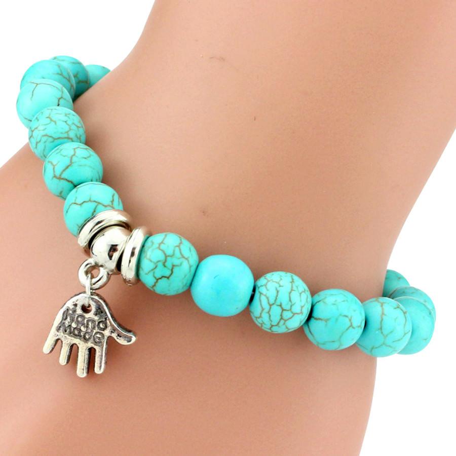 11508-5239253e9e3591387766eb06436ae473 Vintage Beaded Turquoise Charm Bracelets For Women