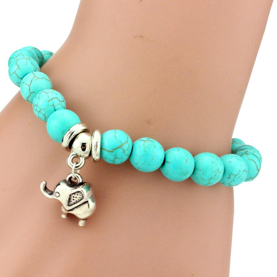 11508-711356d98646ea8c6ea1e46e0cd20643 Vintage Beaded Turquoise Charm Bracelets For Women