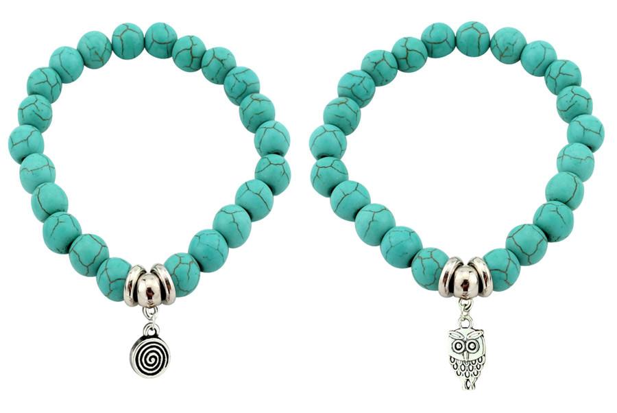11508-950e0ea2825b648dd0bf34272ac7092e Vintage Beaded Turquoise Charm Bracelets For Women