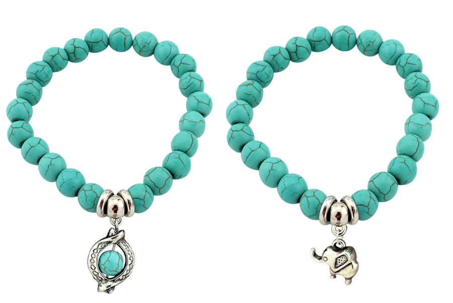 11508-a233a24335679f8c51e2fa78c930aecb Vintage Beaded Turquoise Charm Bracelets For Women