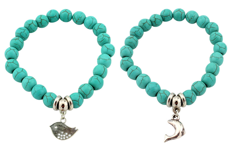 11508-b47a80efc75ff05de0495c1577c427ad Vintage Beaded Turquoise Charm Bracelets For Women