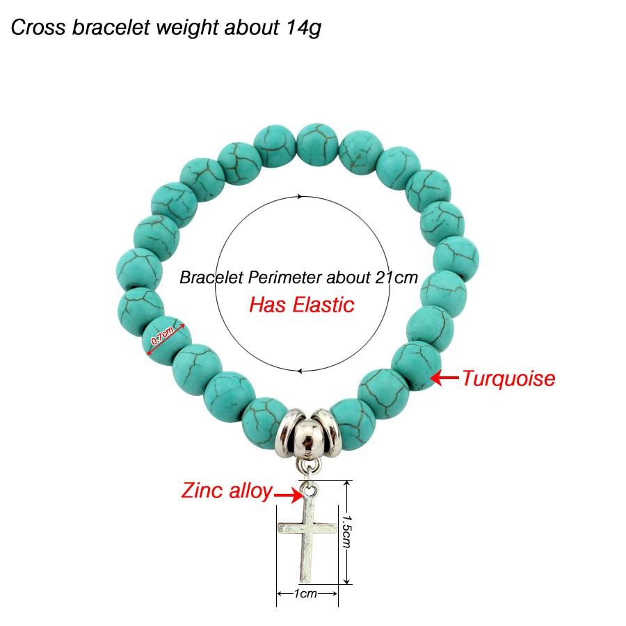 11508-bed9ebabfe05194773271cadfb40b135 Vintage Beaded Turquoise Charm Bracelets For Women