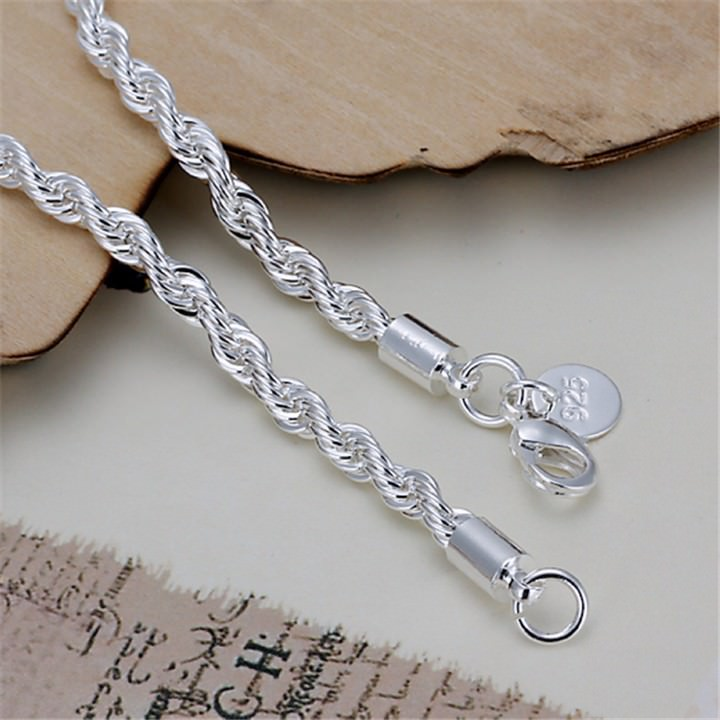 11509-1af30a2f9d0ee91ba3d14ba2a5deefd6 Fashion Silver Plated Charm Bracelet Chain With Lobster Clasp