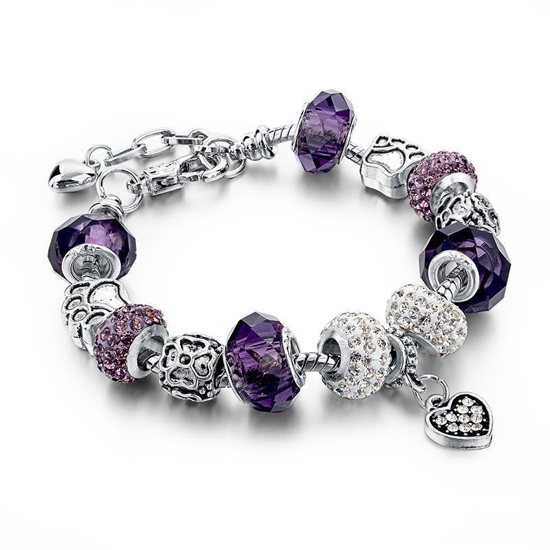 11510-29c26e960be7107d2808944de3e7fec5 LONGWAY Charm Bracelet Chain With Bead Charms And Pendant Charm
