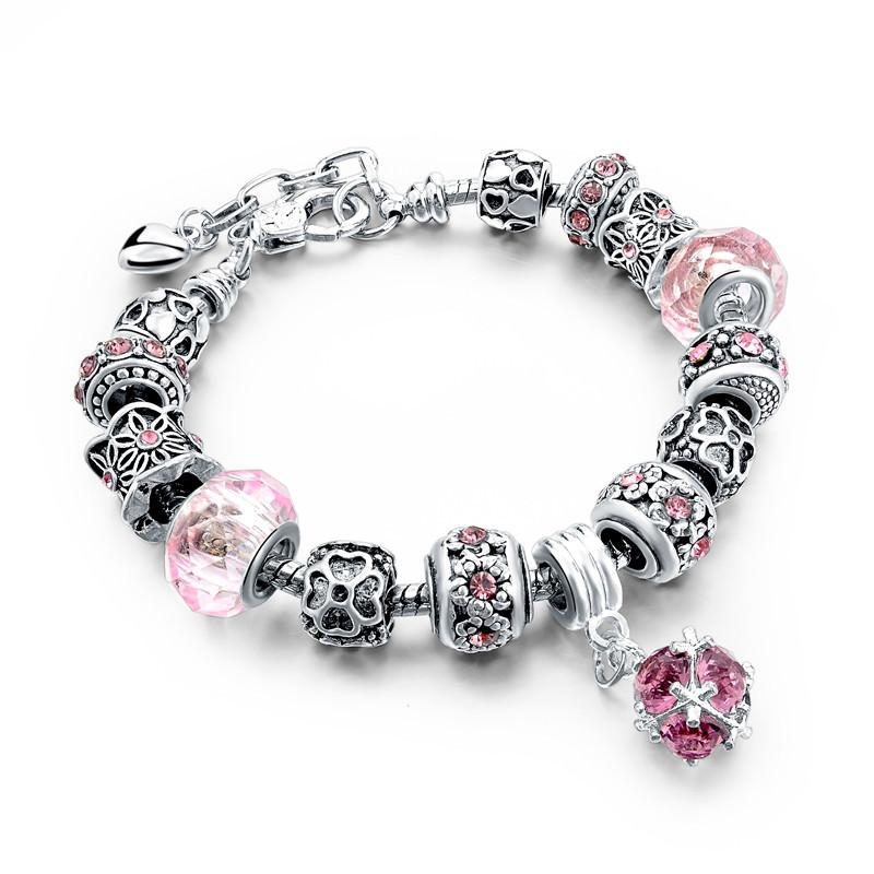 11510-2fd0cb926981a8a92fe50d3094d1ba73 LONGWAY Charm Bracelet Chain With Bead Charms And Pendant Charm