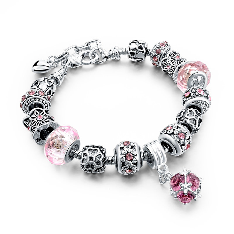 11510-2fd0cb926981a8a92fe50d3094d1ba73 Charm Bracelet Chain With Bead And Pendant
