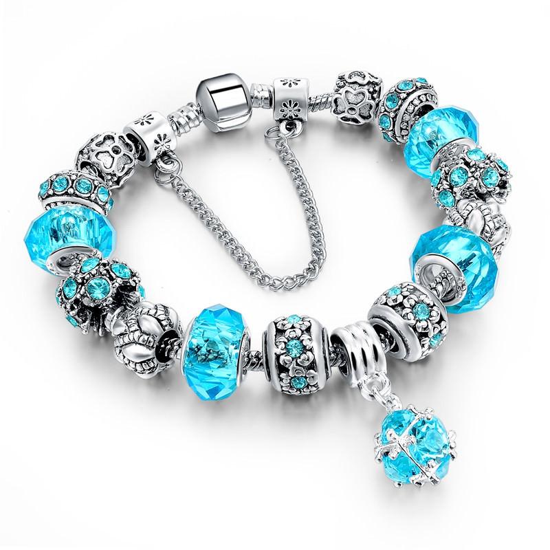 11510-8b503eccf573639e351f9e0cf1127f1f LONGWAY Charm Bracelet Chain With Bead Charms And Pendant Charm
