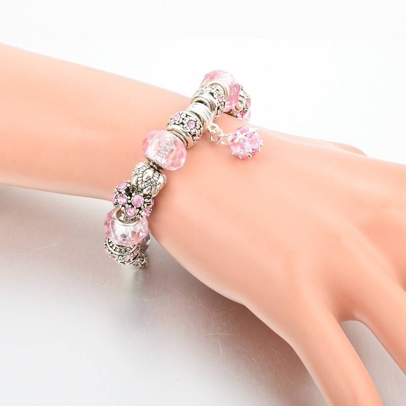11510-8d57e4cd257d187f8edb94da06f4db24 LONGWAY Charm Bracelet Chain With Bead Charms And Pendant Charm