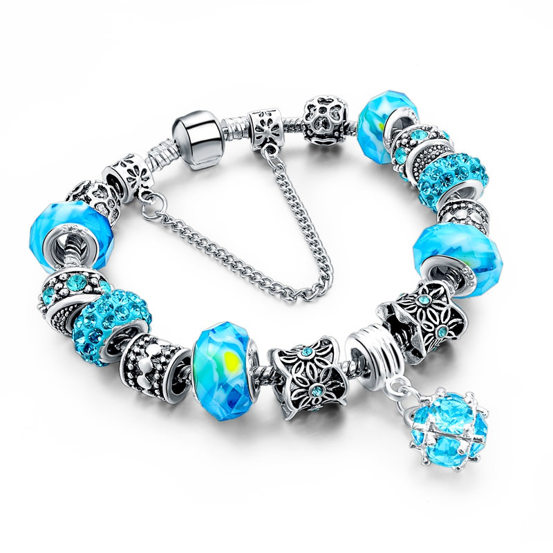 11510-95db30f4cb32dacb485caa4e18715794 Charm Bracelet Chain With Bead And Pendant