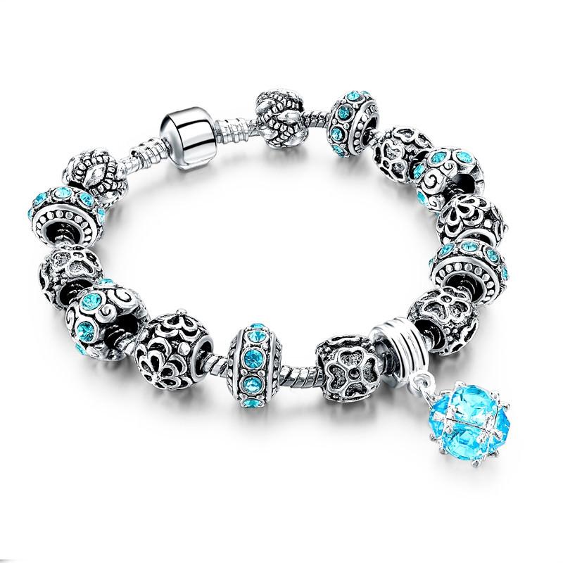 11510-a1c6d772760c9868eba0ad94b36cbd6b LONGWAY Charm Bracelet Chain With Bead Charms And Pendant Charm