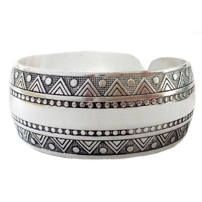 11511-be58f7ecf5bc06c66bc5b93e7f89fa05 Wide Gypsy Cuff Bangle Silver Bracelets For Women