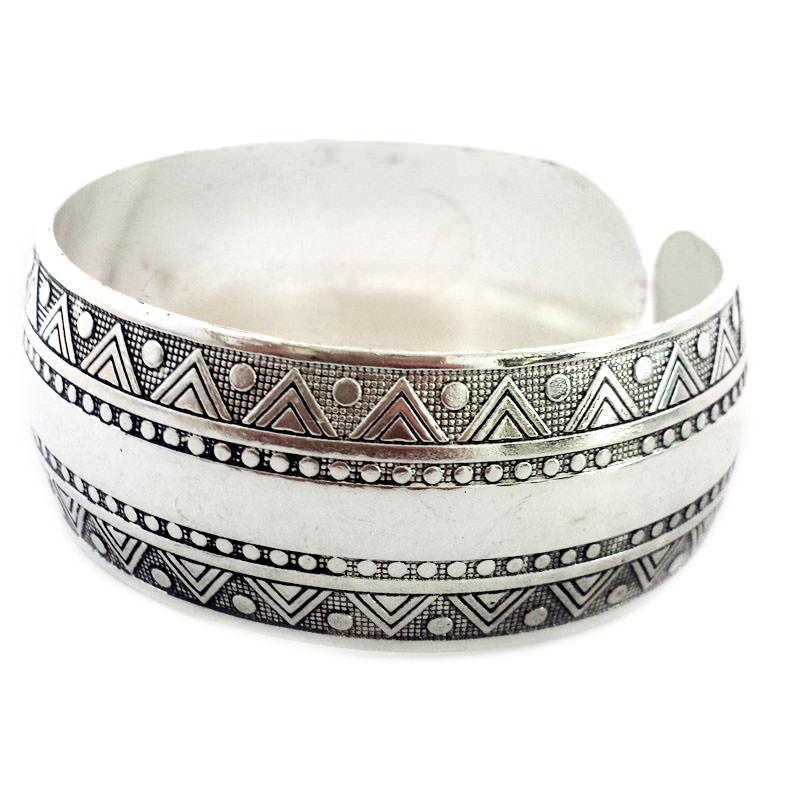 11511-d23291b00eb813d888944fbb52525bf8 Wide Gypsy Cuff Bangle Silver Bracelets For Women