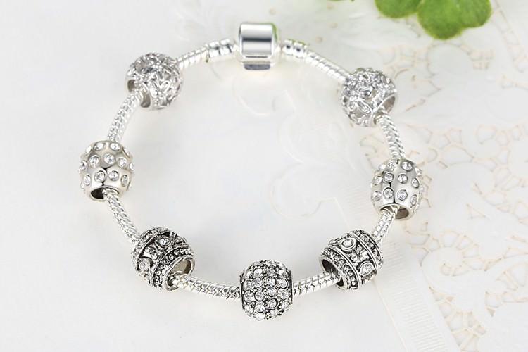 11512-6deb169b434edbf127664fdc84265689 Simple Charm Bracelet Chain With Crystal Beads