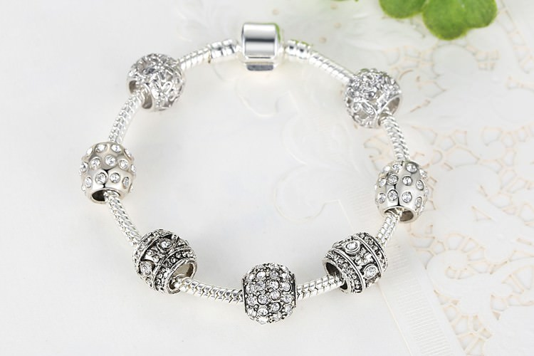 11512-6deb169b434edbf127664fdc84265689 Simple Charm Bracelet Chain With Crystal Beads