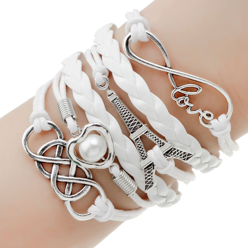 11513-355ceed9a3bd6356b82b3d9daf18377e Retro Multilayer Leather And Chord Bracelet With Metal Charms
