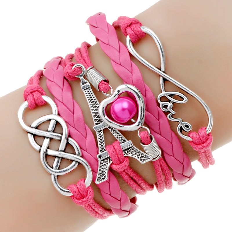 11513-bcb03a89e45f8e36e9917e1bd5f09d25 Retro Multilayer Leather And Chord Bracelet With Metal Charms