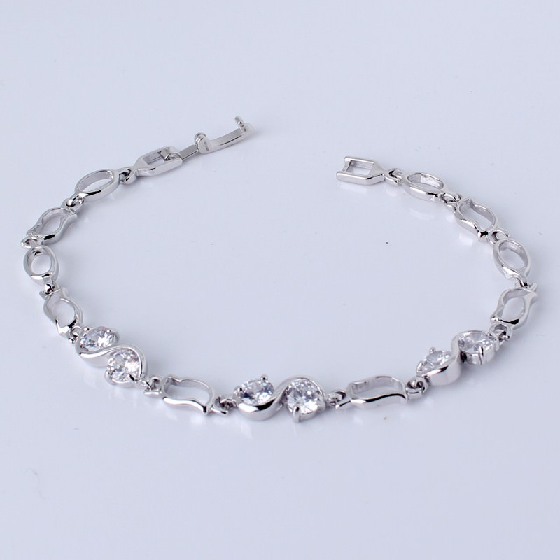 11517-df4bccbdc816b0474aac78747fa43de8 Ornate Chain Link Bracelet Jewelry With Cubic Zirconia Crystals
