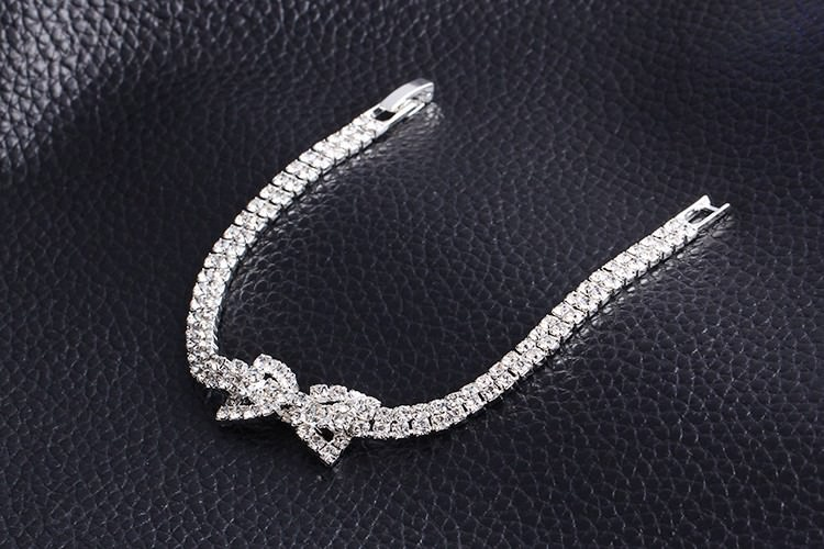 11518-654fe2e7ac3048919421311e002dae3a Sparkling Rhinestone Chain Bracelet With Rhinestone Bow Accent