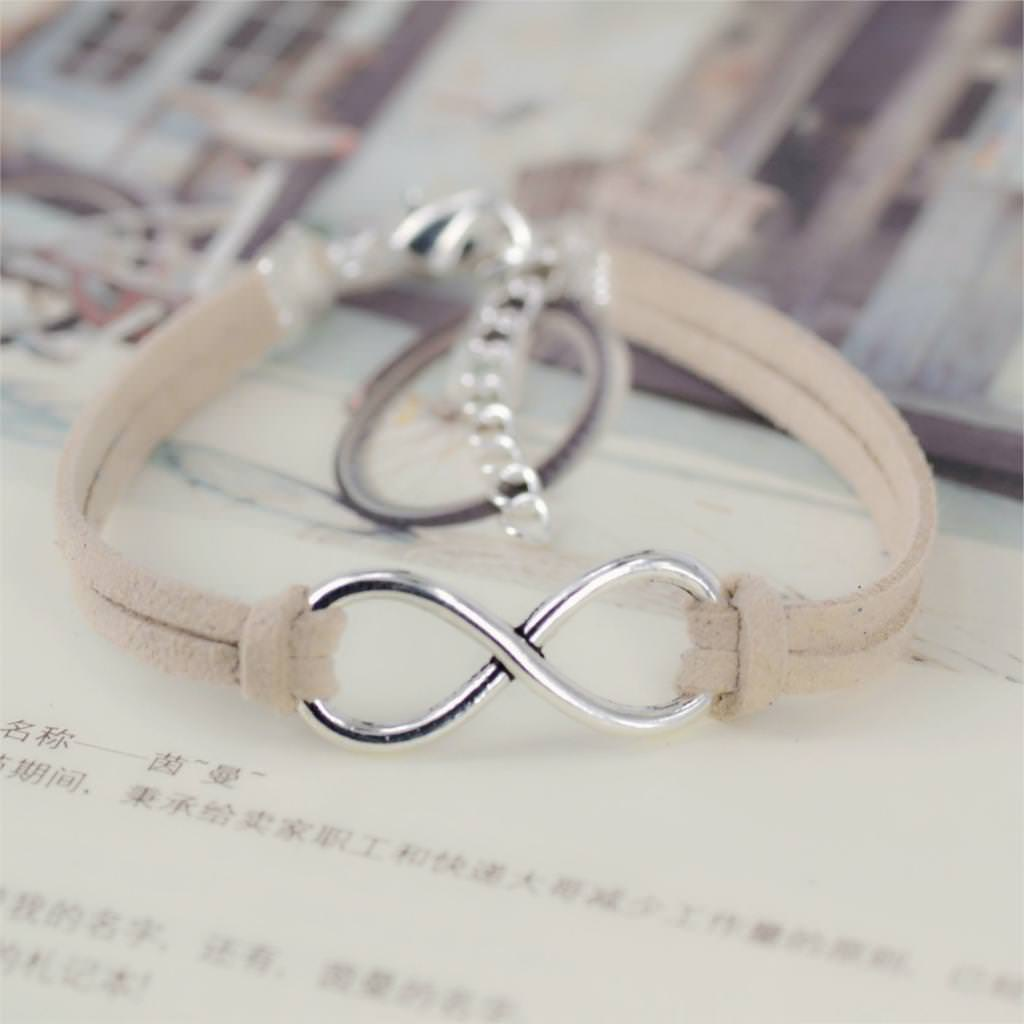 11519-d45e3cc0e9409f9b536a6e62599287bd Silver Plated Infinity Charms With Leather Strap Bracelet Jewelry