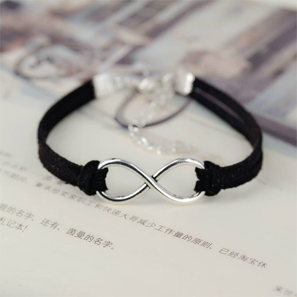 11519-db73f73c94402582b918ce686847359b Silver Plated Infinity Charms With Leather Strap Bracelet Jewelry
