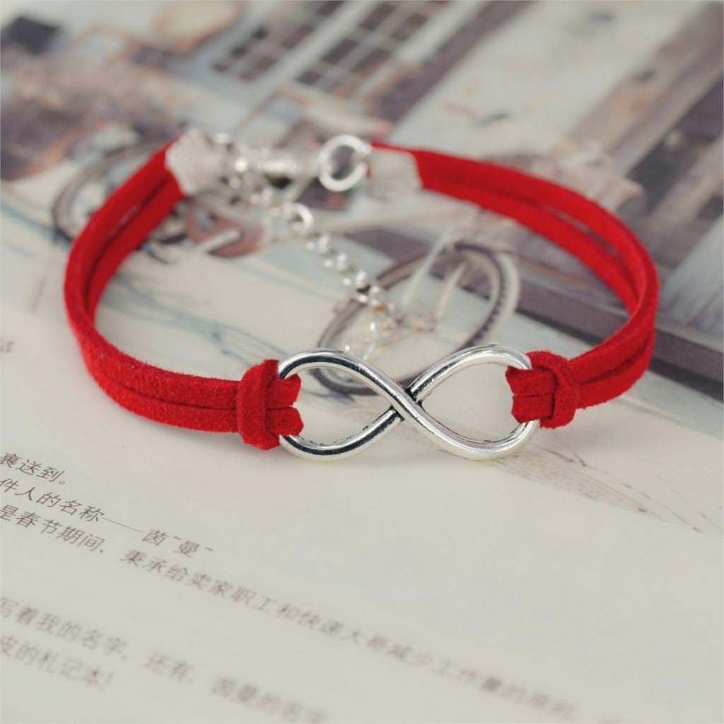 11519-ee1e0a5a2842b8cfdc94b04771f13a3d Silver Plated Infinity Charms With Leather Strap Bracelet Jewelry