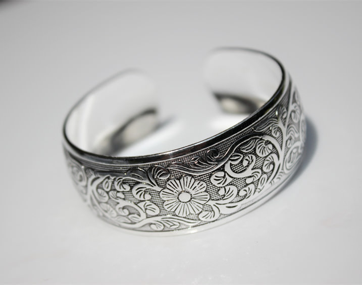 11521-1d29b114d5356ef8072cbdf7b5601602 Retro Silver Plated Cuff Bangles Jewelry In Various Designs