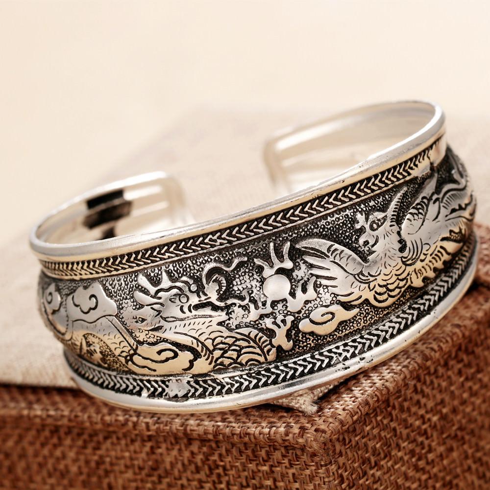 11521-7d5dbeea92c5de4c9661c1f20f16ea97 Retro Silver Plated Cuff Bangles Jewelry In Various Designs