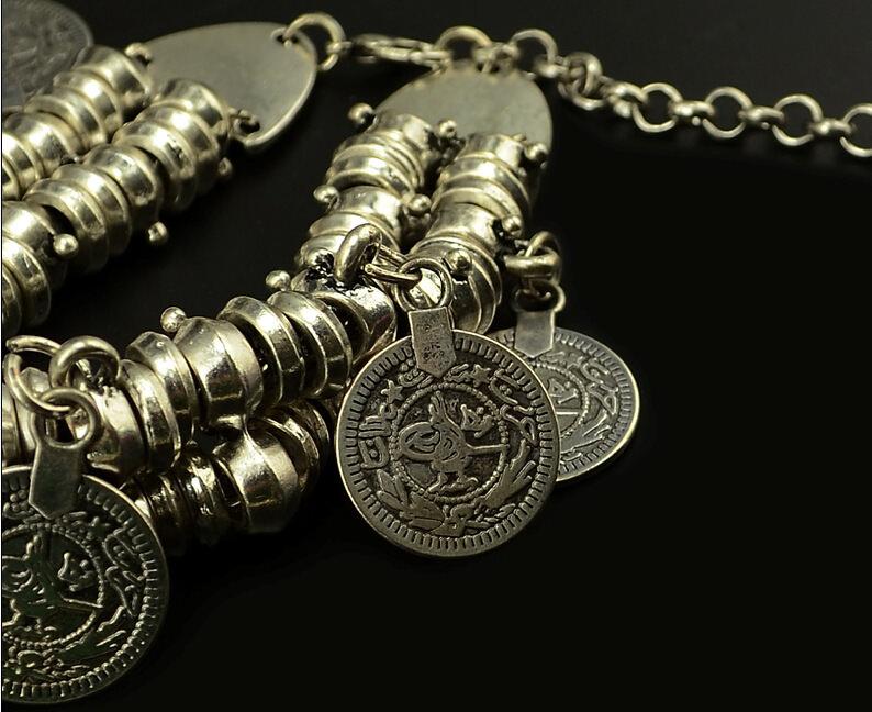11523-4ceddc53bb2fbeb0e27363470b606b6e Vintage Bohemian Silver Coin Charm Bracelet Jewelry