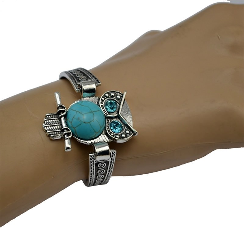 11525-364b8f786609501dfe67aa7b25ac26b9 Vintage Retro Silver Bracelet Jewelry With Various Turquoise Accent