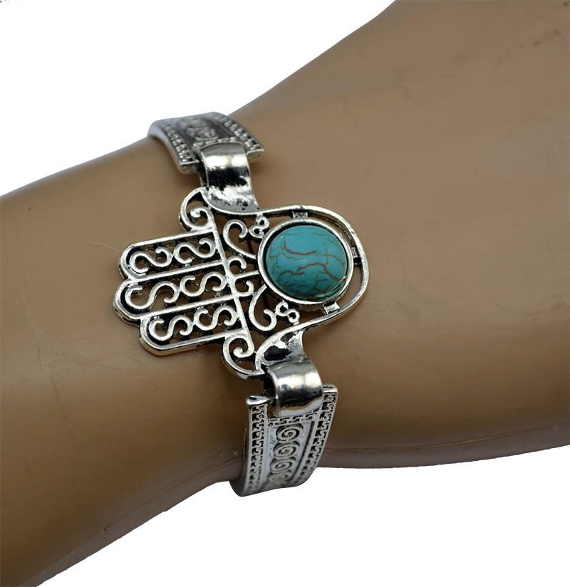 11525-8ca9990a8d115ab72a469733542fd57e Vintage Retro Silver Bracelet Jewelry With Various Turquoise Accent
